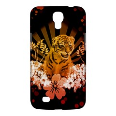 Cute Little Tiger With Flowers Samsung Galaxy Mega 6 3  I9200 Hardshell Case by FantasyWorld7