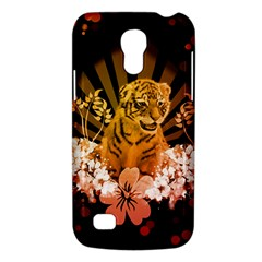Cute Little Tiger With Flowers Galaxy S4 Mini by FantasyWorld7