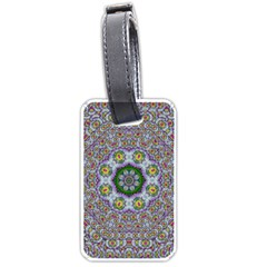 Summer Bloom In Floral Spring Time Luggage Tags (one Side)  by pepitasart