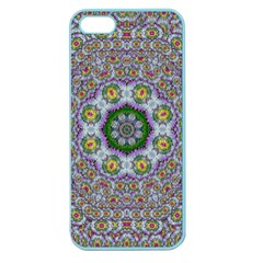 Summer Bloom In Floral Spring Time Apple Seamless Iphone 5 Case (color) by pepitasart
