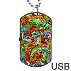 P 867 Dog Tag Usb Flash (two Sides) by ArtworkByPatrick