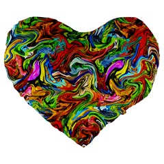 P 867 Large 19  Premium Flano Heart Shape Cushions by ArtworkByPatrick