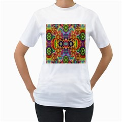 Artwork By Patrick Pattern 22 Women s T Shirt (white) (two Sided) by ArtworkByPatrick