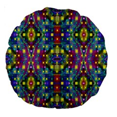 Artwork By Patrick Pattern 23 Large 18  Premium Round Cushions by ArtworkByPatrick