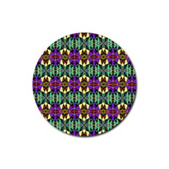 Artwork By Patrick Pattern 24 Rubber Coaster (round)  by ArtworkByPatrick
