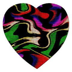 Hot Abstraction With Lines 1 Jigsaw Puzzle (heart) by MoreColorsinLife