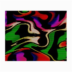 Hot Abstraction With Lines 1 Small Glasses Cloth (2 Side) by MoreColorsinLife