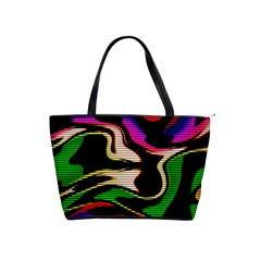 Hot Abstraction With Lines 1 Shoulder Handbags by MoreColorsinLife
