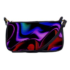 Hot Abstraction With Lines 2 Shoulder Clutch Bags by MoreColorsinLife