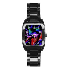Hot Abstraction With Lines 2 Stainless Steel Barrel Watch by MoreColorsinLife