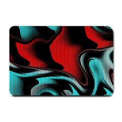 Hot Abstraction With Lines 3 Small Doormat  by MoreColorsinLife