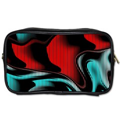 Hot Abstraction With Lines 3 Toiletries Bags 2 Side by MoreColorsinLife