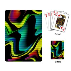 Hot Abstraction With Lines 4 Playing Card by MoreColorsinLife