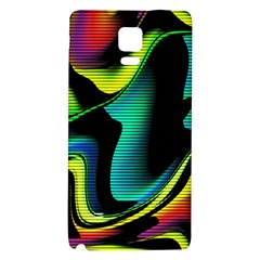 Hot Abstraction With Lines 4 Galaxy Note 4 Back Case by MoreColorsinLife