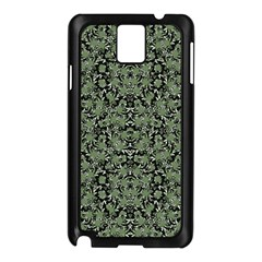 Camouflage Ornate Pattern Samsung Galaxy Note 3 N9005 Case (black) by dflcprints
