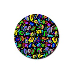 Artwork By Patrick Pattern 30 Rubber Coaster (round)  by ArtworkByPatrick