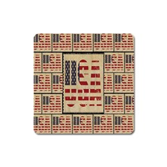 Usa Square Magnet by ArtworkByPatrick