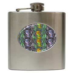 May Be A Woman In Manga Fire Hip Flask (6 Oz) by pepitasart