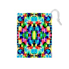 Artwork By Patrick  Colorful 1 Drawstring Pouches (medium)  by ArtworkByPatrick