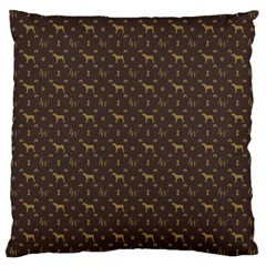 Louis Weim Luxury Dog Attire Large Cushion Case (one Side) by PodArtist