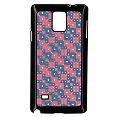 Squares And Circles Motif Geometric Pattern Samsung Galaxy Note 4 Case (black) by dflcprints