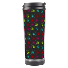 Roses Raining For Love  In Pop Art Travel Tumbler by pepitasart