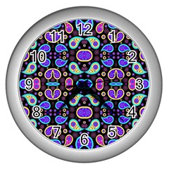 Colorful 5 Wall Clocks (silver)