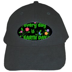 Earth Day Black Cap by Valentinaart