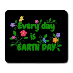 Earth Day Large Mousepads by Valentinaart