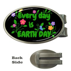 Earth Day Money Clips (oval)  by Valentinaart