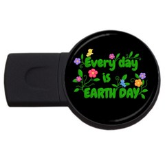 Earth Day Usb Flash Drive Round (2 Gb)