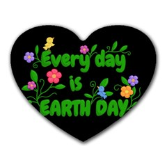 Earth Day Heart Mousepads by Valentinaart