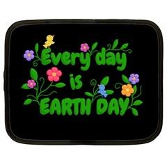 Earth Day Netbook Case (large) by Valentinaart