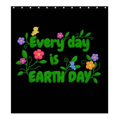 Earth Day Shower Curtain 66  X 72  (large)  by Valentinaart