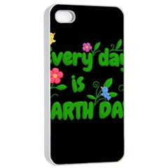 Earth Day Apple Iphone 4/4s Seamless Case (white) by Valentinaart