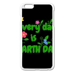 Earth Day Apple Iphone 6 Plus/6s Plus Enamel White Case by Valentinaart
