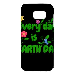 Earth Day Samsung Galaxy S7 Edge Hardshell Case by Valentinaart