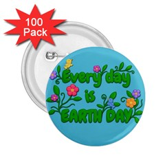 Earth Day 2 25  Buttons (100 Pack)  by Valentinaart
