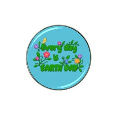 Earth Day Hat Clip Ball Marker by Valentinaart