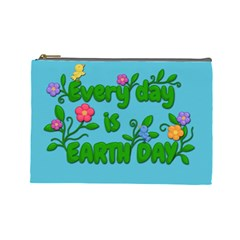 Earth Day Cosmetic Bag (large)  by Valentinaart