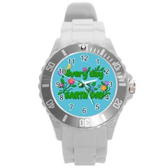 Earth Day Round Plastic Sport Watch (l)