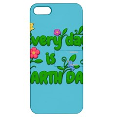 Earth Day Apple Iphone 5 Hardshell Case With Stand by Valentinaart