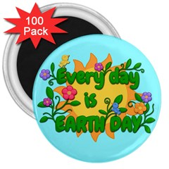Earth Day 3  Magnets (100 Pack) by Valentinaart