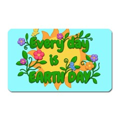Earth Day Magnet (rectangular) by Valentinaart