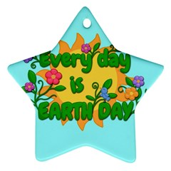 Earth Day Star Ornament (two Sides) by Valentinaart
