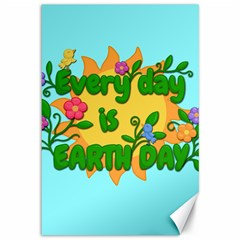 Earth Day Canvas 12  X 18   by Valentinaart