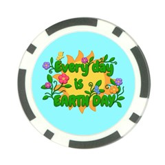 Earth Day Poker Chip Card Guard
