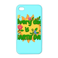 Earth Day Apple Iphone 4 Case (color) by Valentinaart