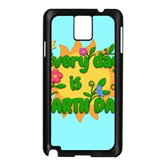 Earth Day Samsung Galaxy Note 3 N9005 Case (black) by Valentinaart