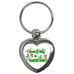 Earth Day Key Chains (heart)  by Valentinaart